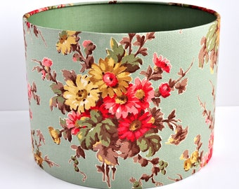 Vintage Floral Lampshade In Vintage Spring Bouquet Flowers shade drum shade pendant shade