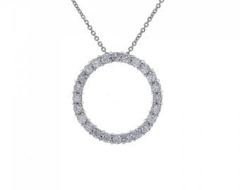 1.20 Carat Diamond Eternity Pendant 14K White Gold