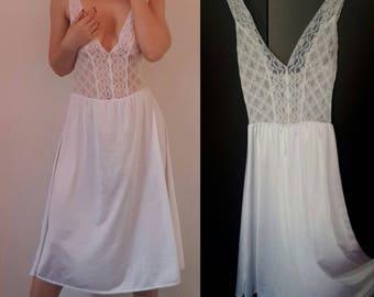 White Lace Camisole Slip