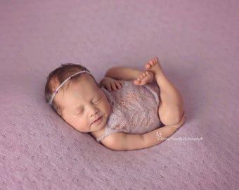 Newborn Lace Romper - Mohair Knitted Romper - Newborn Props