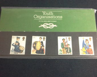 Royal mail stamps Youth Organisations stamp presentation pack No133