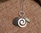 Beach pebble pendant