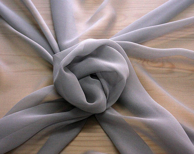 316186-natural Silk Georgette 100%, width 135/140 cm, made in Italy, dry cleaning, weight 50 gr
