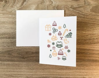 Modern Christmas Card | Greeting Card | Holiday Card | | Xmas Card | A2 Card | Christmas Card | Minimilist Christmas Card | Simple Christmas