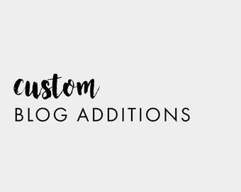 Custom Blog Additions
