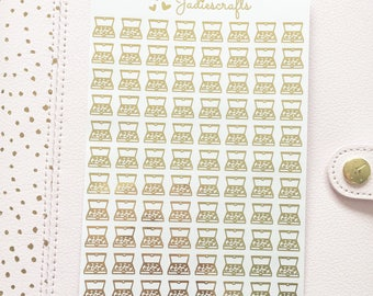 Foil Pizza Box Stickers | Planner Stickers