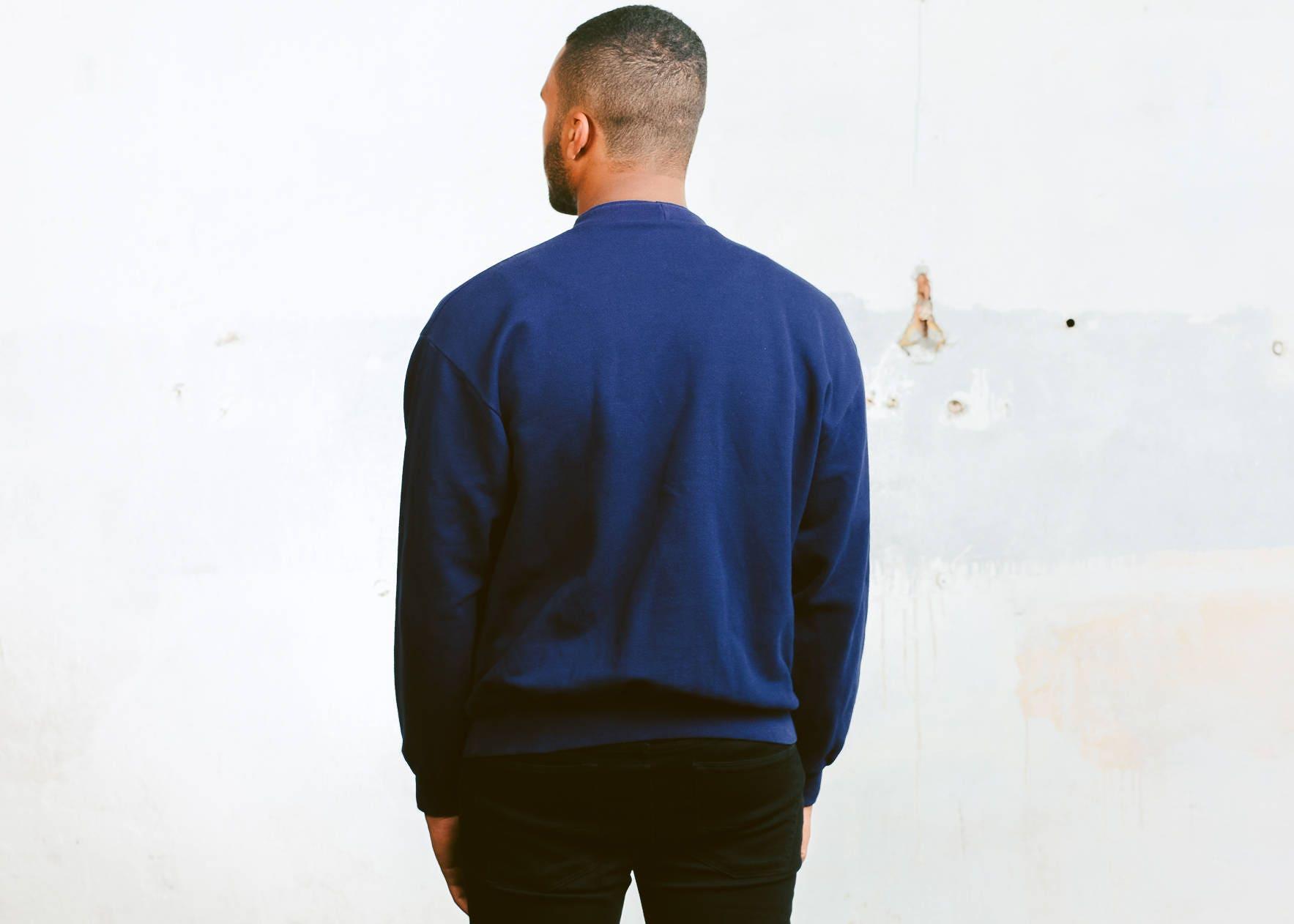 90s Etirel Sweatshirt . Vintage Blue 90s Sweater Men Retro ...