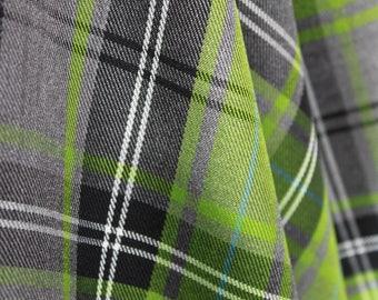 Fashion Lime Tartan Fabric