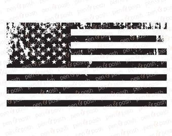 Distressed Flag SVG - Distressed American Flag SVG - Distressed American Flag Decal File - Distressed Flag Clip Art - Flag SVG