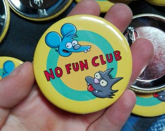 no fun club badge