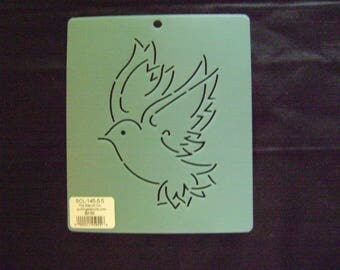 Quilting Stencil 5.5 in. Bird of Peace Block/Embroidery/Holiday Crafting