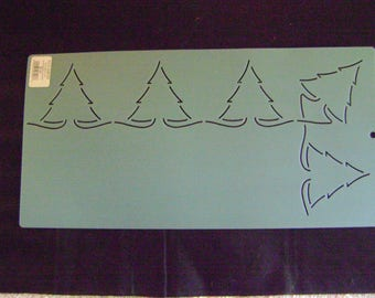 Quilting Stencil 3 in. by 15.5 in. Pine Tree Border/Holiday Stencils/Christmas Stencils