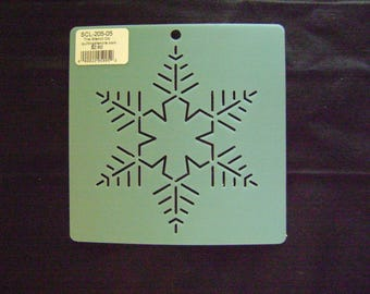 Quilting Stencil 5 in. Snowflake #1  Block/Embroidery/Holiday Crafting
