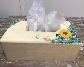Vintage Wooden Kleenex Box Hand made