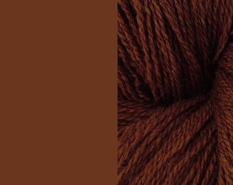 Wool Yarn, brown, DK, 3-ply worsted knitting yarn 8/3 100g/130m