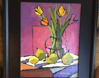 New Tulips, Green Pears