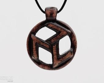 Reiki Jewelry - Antahkarana Symbol Tibetan Spiritual Jewelry - Healing Necklace - Hand Carved Wood Pendant -  Reiki Healing Art- CristherArt