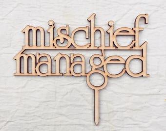 Harry Potter Cake Topper Mischief Managed Wedding