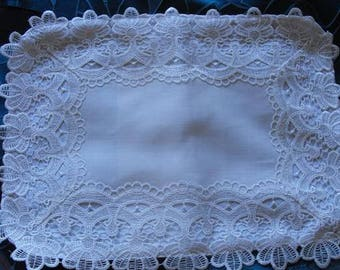 Lace Trimmed Baby Pillowcase