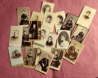 20 Edwardian CDV photographs women costume hairstyles portraits Scotland  1 from London