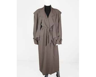 Vintage-material-mix trench coat