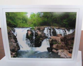 Photo Greeting Card   Handmade Card   Photo Note Card   Original Photography   Yacolt Falls