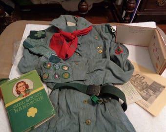 Vintage 1940 Girl Scout Uniform