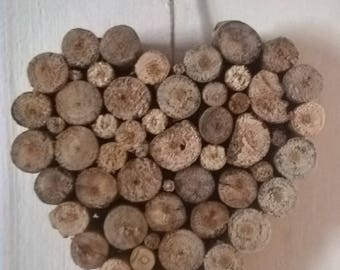 Driftwood from our region hanging heart