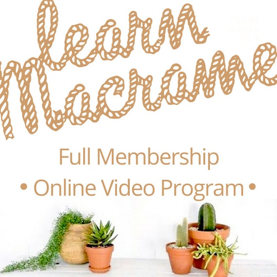 MACRAME TUTORIALS - Learn Macrame - Video Tutorials and Macrame Patterns for Wall Hangings and Plant Hangers. Suitable for Beginners