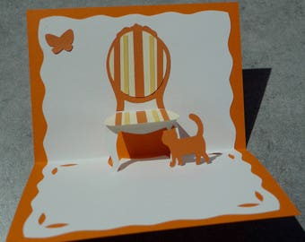 """Chair"" Kirigami pop-up card"