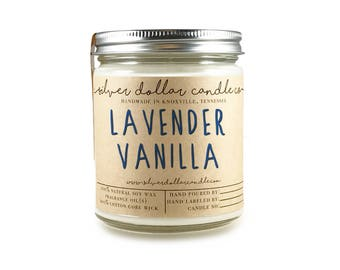 Lavender Vanilla Candle - Scented candles - soy candle - candle - boyfriend gift - gift for her, mom Birthday, gift for mom, cute candle