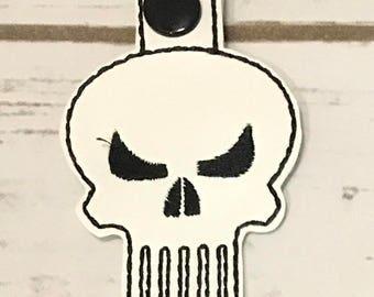 Punisher Key chain, Marvel Key chain, Embroidered, Key chains, Key Fob