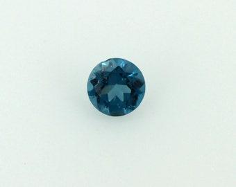 Round Swiss Blue Topaz Loose Gemstone