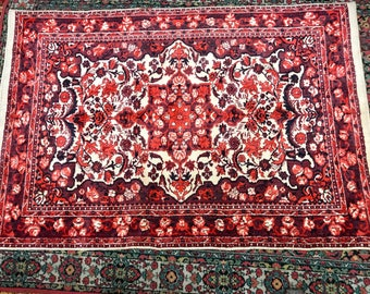 Really bright carpet rug 100%wool floral pattern rug pink white and vinous color warm vintage old rug big retro perfect for home&restaurant.