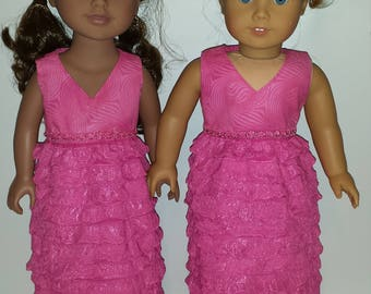 American Made 18 inch Girl Doll Dress
