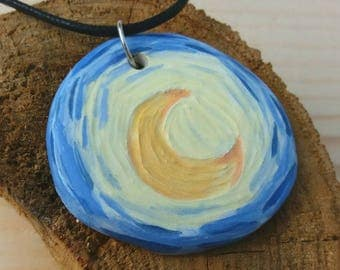 Vincent van Gogh Moon Pendant