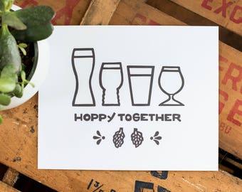 Hoppy Together Art Print
