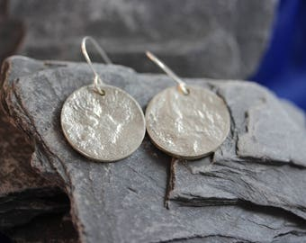 Sterling Silver Etched Earrings (082017-053)