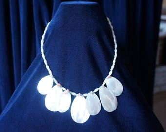 Jewelry Fresh Water White Mother Pearl Shell Necklace