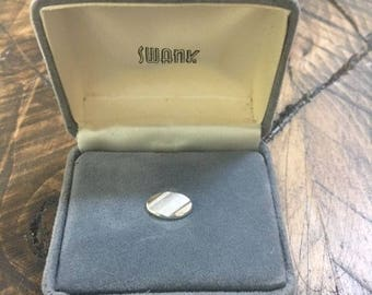 Vintage Swank Silver Tone Tie Tack Mid Century Modern Mens Accessory