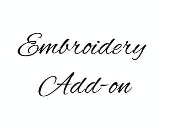 Embroidery Add-on for Headbands & Knot Hats