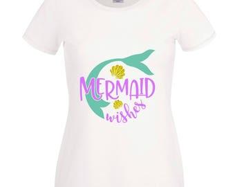 Personalised Mermaid Tshirt, your Name, Matching Outfit Birthday Gift Present Merman Baby Etc