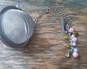 Tea Infuser and Infuser Infuser, personalized jewelry, gift for her, gift for him, gift for the tea lover