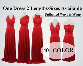 Ruby Red Bridesmaid Dresses, infinity dress, dress dress, convertible dress, maternity dress, bridesmaid gown, party dress, Wedding Dress