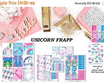 40% Off Sale Unicorn Frappe, 6 sheet weekly kit//EC//Hp classic, large mini