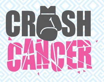 Crush Cancer SVG, Breast Cancer Awareness Digital Cutting File, Digital files, Awareness SVG, Breast Cancer Awareness SVG, 55luna