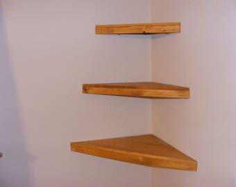 Set of 3 Floating Corner Shelves