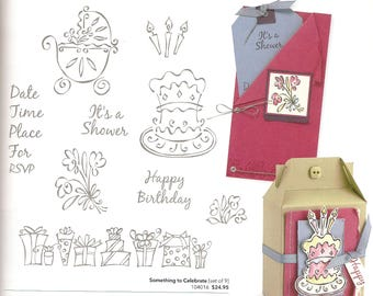 Something to Celebrate Stampin Up Set of 9