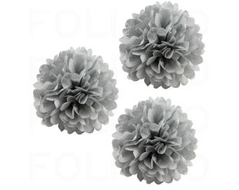 """GRAY Puff Ball 