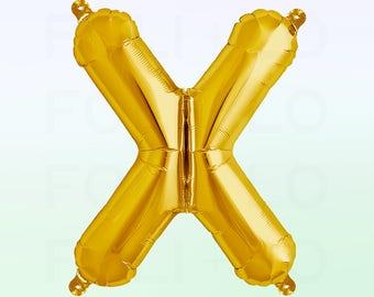 Metallic Gold Letter X Balloon | Gold X Balloon | Gold Letter X Balloon | Jumbo Letter X Balloon
